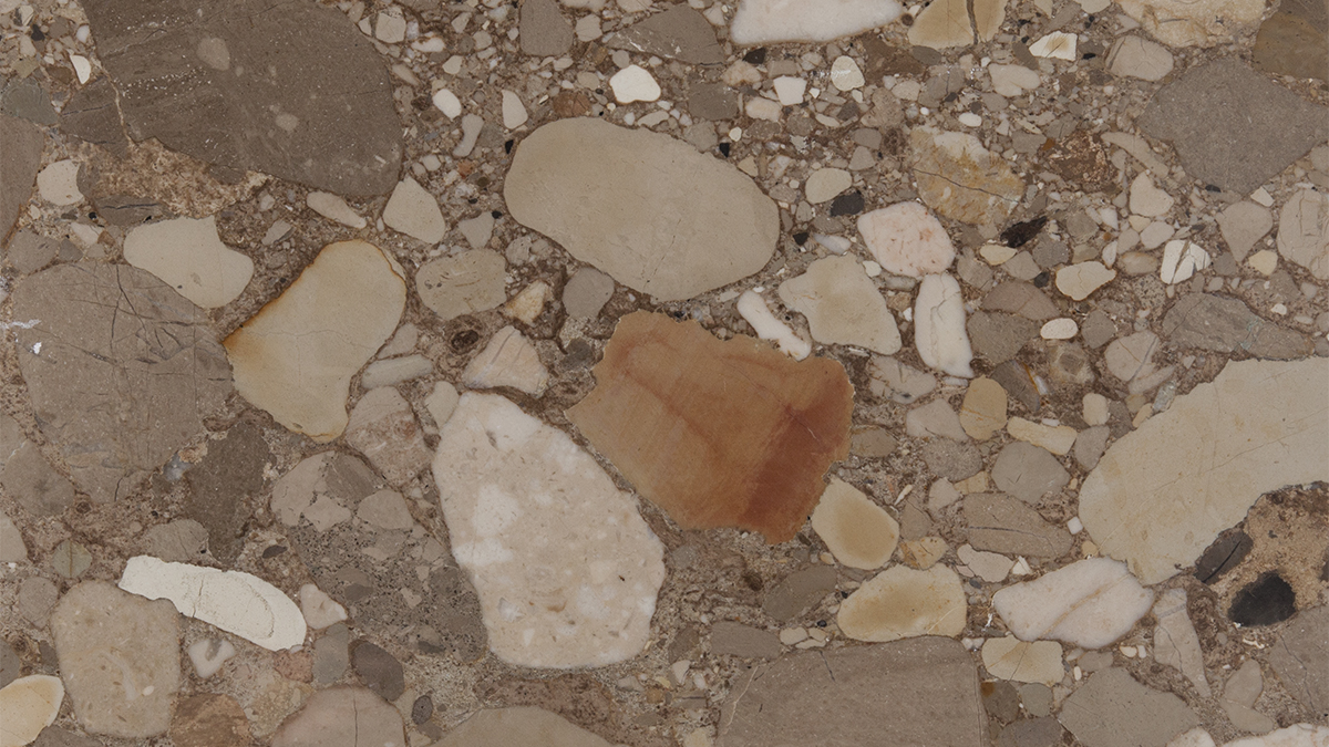 Breccia Adonis is a beige background with large multicolor grains sedimentary rock/breccia marble quarried in Turkey. This stone is especially good for Exterior - Interior wall and floor applications, countertops, mosaic, fountains, pool and wall capping and other design projects. It also called Marble Breccia Adonis,Adana Konglomera Mermeri,Adana Conglomerate Marble,Karaisali Konglomera,Karaisali Conglomerate Marble . Breccia Adonis Marble can be processed into Polished, Sawn Cut, Sanded, Rockfaced, Sandblasted, Tumbled and so on.